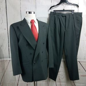Montebello 41R Double Breasted Gray 2pc Suit